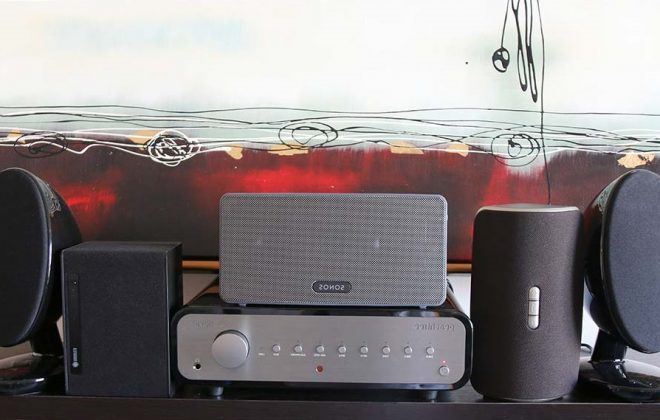 wired or wireless speakers